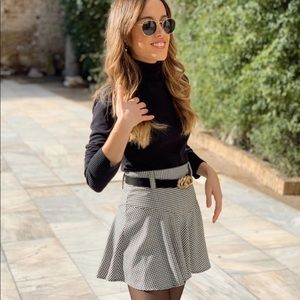 Zara Black and White Skort